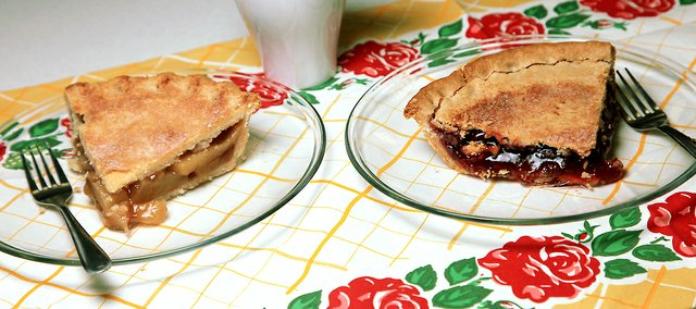 Goods from Washington, Kan.-based MarCon Pies, like these caramel apple and strawberry delicacies, are a Kansas favorite.