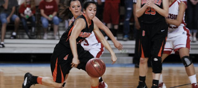 Senior Yessenia Hernandez had seven points in the first quarter for Bonner Springs against McPherson Friday in Salina.
