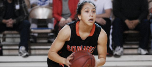 Yessenia Hernandez was one of four seniors to finish their careers with the Braves Saturday.