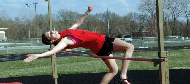 Junior Jenny Whitledge will try to repeat as state champion in the high jump this season.
