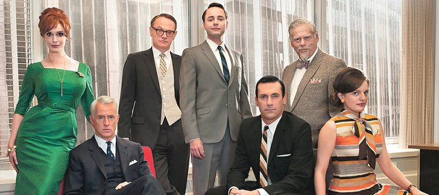 "The fifth season of ""Mad Men,"" the stylized AMC drama about the men and women who work in Madison Avenue advertising in the 1960s, premieres Sunday. The cast includes Christina Hendricks (left), John Slattery, Jared Harris, Vincent Kartheiser, Jon Hamm, Robert Morse and Elisabeth Moss."