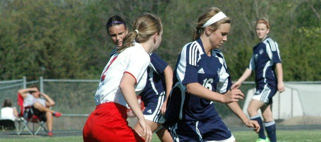 Mill Valley sophomore Abby Sieperda scored two goals in the Jaguars' 10-0 shutout of Tonganoxie on Monday.
