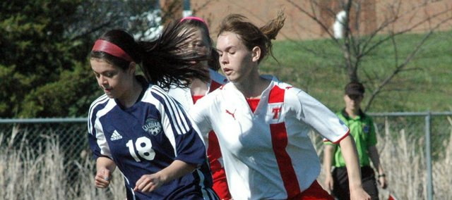 Senior Sarah Williams and the Chieftain soccer team couldn't find the net in a 10-0 loss to Mill Valley on Saturday.