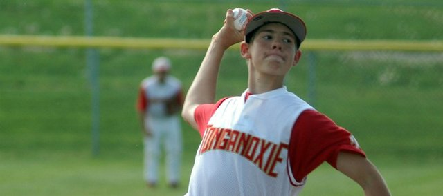 Sophomore Travis Woods went the distance Monday in a 4-3 victory over Turner. Woods started in both of Tonganoxie's wins this season.