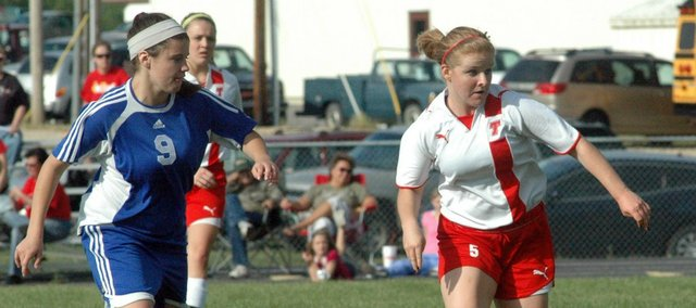 Lindsey Truesdell and the Chieftains suffered a 3-1 loss Wednesday against Kansas City Christian.