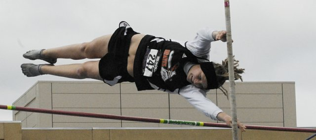 Bonner Springs junior Bethany Bailey placed eighth in the girls pole vault on at the Kansas Relays on April 20 with a 10-8 vault.