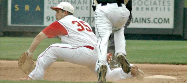 Cody Saladin's two-run home run wasn't enough to get Tonganoxie past Paola on Friday.