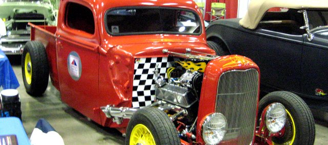 Mike Withers, a Shawnee resident and chairman of the board for the American Street Rod Association, is rebuilding this 1946 Ford pickup.