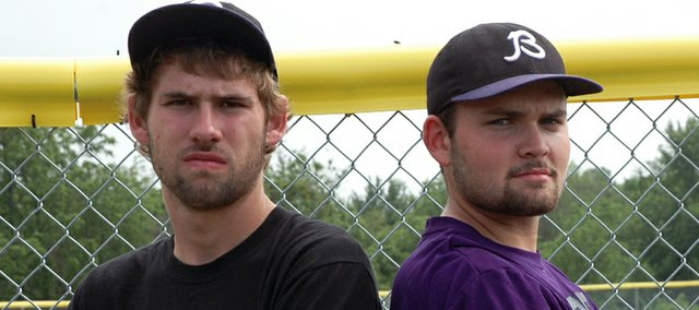 Baldwin High Seniors Hunter Burkhart, left, and Tyler Brenn have played baseball together for nearly 10 years.