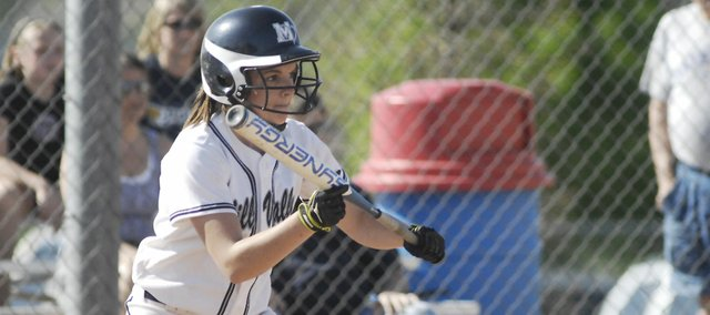 Both at the plate and on the mound, Jillian Jobe has helped lead the Mill Valley softball team to a Kaw Valley League title this year.