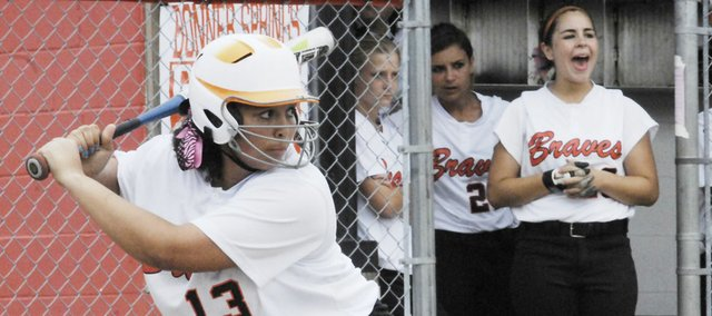 Bonner Springs&#39; Geena Harris also pitched a tight game in the second of two against Basehor-Linwood on April 26.