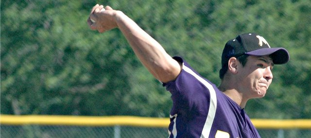 Wyatt Farris picked up a win on the mound in McLouth's first game against Oskaloosa.