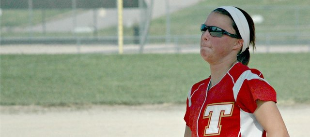Morgan Oroke threw seven innings of three-run ball Monday against Atchison.
