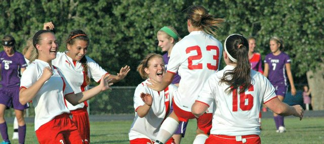The Tonganoxie High girls soccer team won its first-ever regional championship Friday, handing Piper a 4-1 defeat at home.