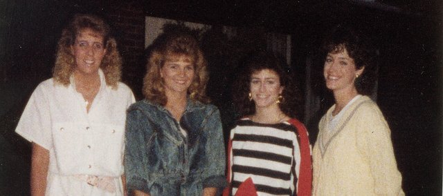 Ingrid Maehl, Kim Frazier and sisters Laura Kisro and Julie Downey (from left) together in happier times. Of the group of four, Maehl, Frazier and Downey all were diagnosed with breast cancer.