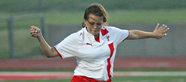 Aly Bartholomew and the Chieftain soccer team suffered a 4-0 state semifinal loss Friday against Topeka-Hayden.