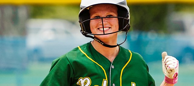 Basehor-Linwood senior Brooke Redmond struck out 29 batters in three games during the 4A state softball tournament in Salina. Redmond also hit a home run during the Bobcats' run to a third-place finish.