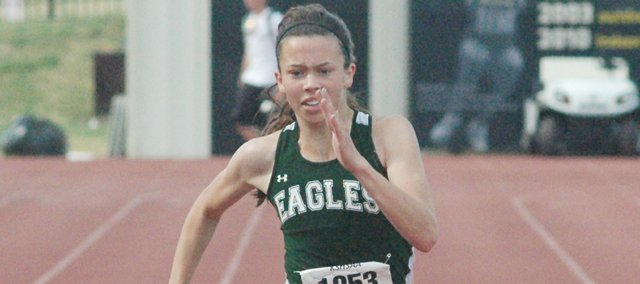 Maranatha Christian Academy freshman Caroline Bingham won the girls 400-meter dash while fellow freshmen Lauren Harrell, Hope Manning, Katherine Smith and Taylor Marrow helped lead the Eagles to the 2A girls state track and field title in Wichita on Saturday.
