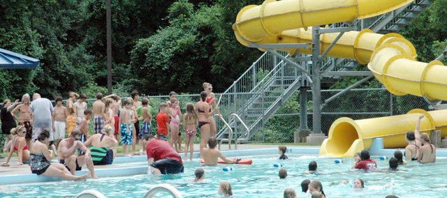 Visitors cool off at the Baldwin City Municipal Pool in this file photo. Whether at a pool or a lake, swimmers should protect against drowning and illness.