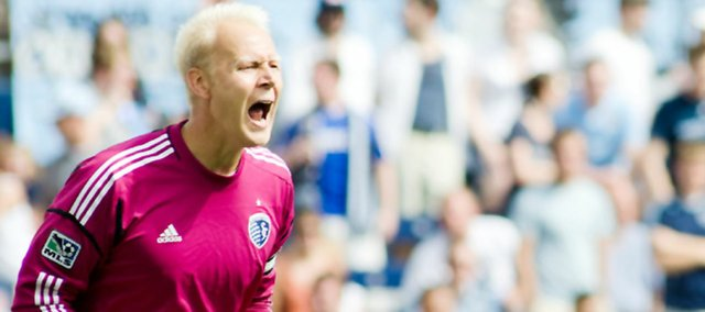 Sporting KC goalkeeper Jimmy Nielsen came through in a big way on Saturday to secure his sixth shutout of the season in a 2-0 victory against Toronto FC at home.