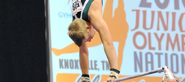 Zach Tucker competed in national gymnastics competitions while at BLHS.