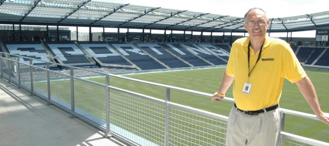 Tonganoxie resident and McLouth High School teacher Steve Gish is an usher this summer at Livestrong Sporting Park.