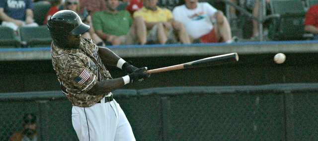 Ray Sadler and the T-Bones struggled at the plate in Wednesday's loss to Sioux Falls.
