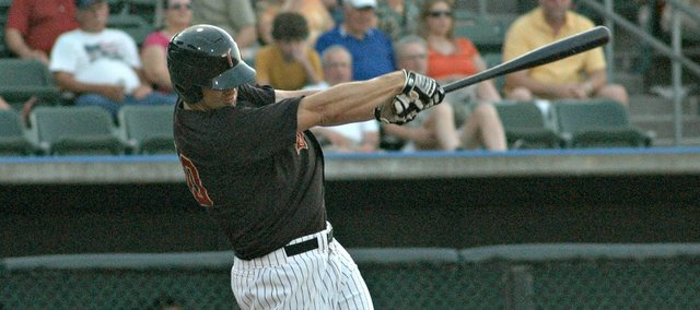 Gus Milner drove in three runs in the T-Bones' 13-1 win over the Sioux Falls Pheasants.