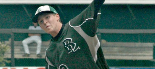 Recent BLHS grad Skyler Barnes will pitch at Highland Community College this year. Barnes, an All-KVL second-team selection, had the lowest ERA in the league in 2012.