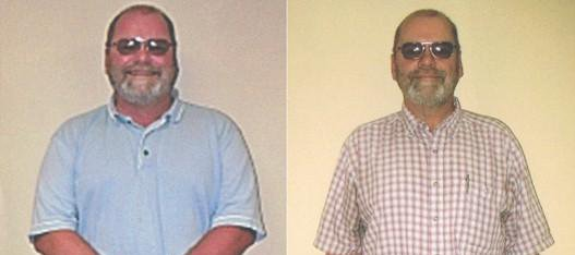 Jerry Hardwick of Basehor, before and after losing more than 40 pounds.