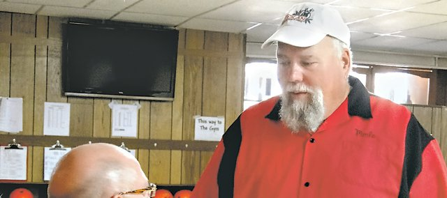 Merle Zuel, right, visits with Keith Anderson, executive director of Gift of Life. Zuel is one of seven people from the Kansas City area who, on Friday, will travel to the 2012 Transplant Games of America in Grand Rapids, Mich.
