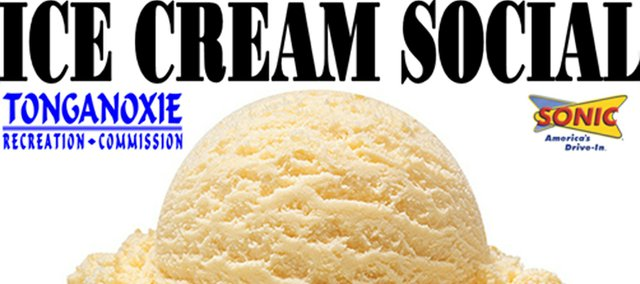 Tonganoxie Recreation Commission will have an ice cream social Sunday, Aug 19, 2012, at Chieftain Park.