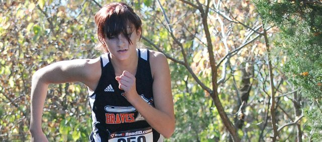 Senior Mandy Ballou qualified for state as a freshman and was an All-Kaw Valley League runner last season.