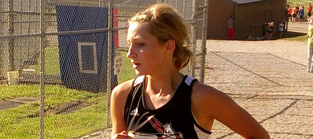 Bonner Springs senior Mandy Ballou placed 12th in the Bishop Miege Invitational on Saturday with a time of 18:21.1.