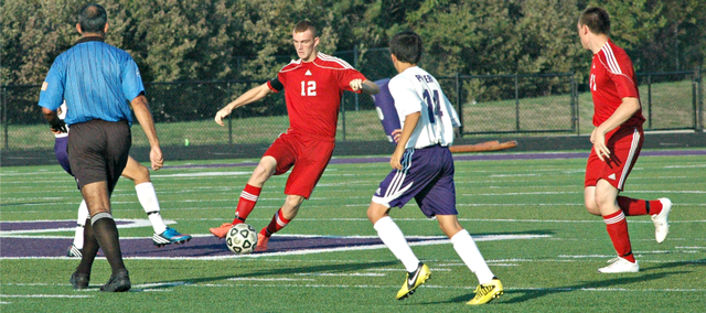Senior Zack Tallent helped the Tonganoxie High soccer team score a 2-1 victory Wednesday at Piper. The Chieftains have now won six straight games.