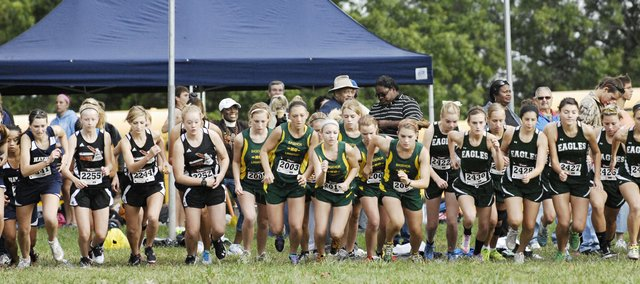 Basehor-Linwood runners competed in a crowded field at the Bonner Springs Invitational Saturday morning at Wyandotte County Park. Stay tuned for full results from the meet, and pick up the Sept. 20 issue of The Sentinel for more photos.