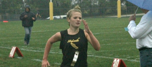 Savannah Noble was the top MHS girls finisher last Thursday at the McLouth Invitational.