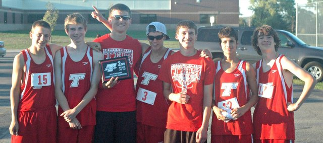 The Tonganoxie High boys took second at their home cross country invitational on Tuesday at Tonganoxie Middle School.