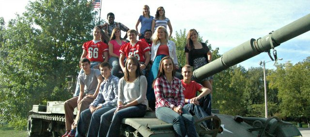 This year's homecoming candidates are, front row, from left, John Lean, Luke Faherty, Emily Minear, Hannah Kemp and Tyler Hall; middle row, from left, Thomas Miller, Rachel Woods, Gus Dent, Ty Barton, Hedvig Langehaug and Jaycee Knipp; back row, from left, Julius Coats, Kelsi Briggs and Jessica Sommers.