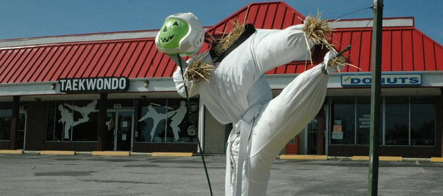This scarecrow was created  by Grand Master Kim's Taekwondo Studio. The Scarecrows on Parade Contest will continue to take entries through the judging day, Oct. 5.