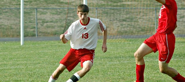 Evan Stilgenbauer and the Tonganoxie High soccer team dropped a 3-1 decision on Monday against Lansing.
