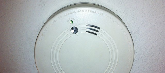 Batteries in smoke detectors should be changed twice a year — when daylight saving time begins and ends — says Kansas State Fire Marshal Doug Jorgensen.