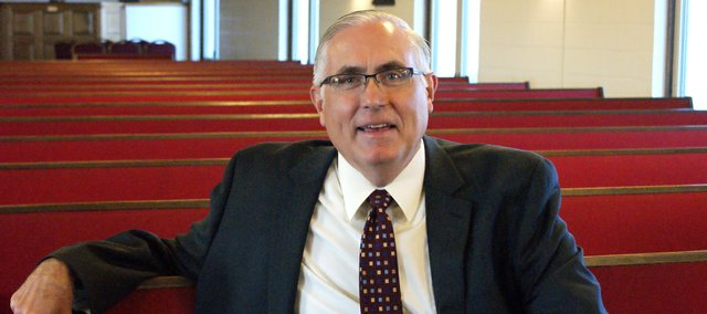 The Rev. Duane Mccracken and First Baptist Church in Basehor live stream his church services for people to watch on the Internet. It's just one way he can boost church attendance by letting members watch from home.