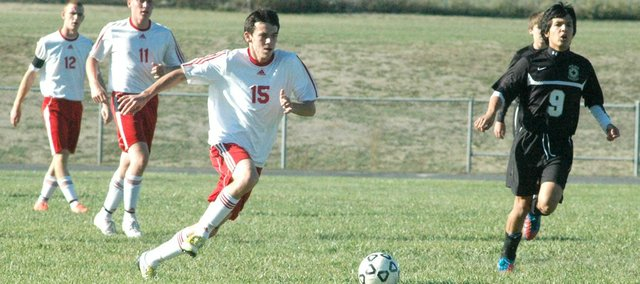 John Lean had an assist in Tonganoxie High's 6-0 win Monday against Maur Hill.
