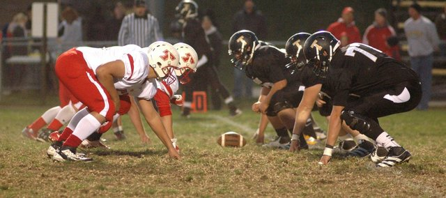 The Tonganoxie High football team will try to start district play on a high note tomorrow at Perry-Lecompton.