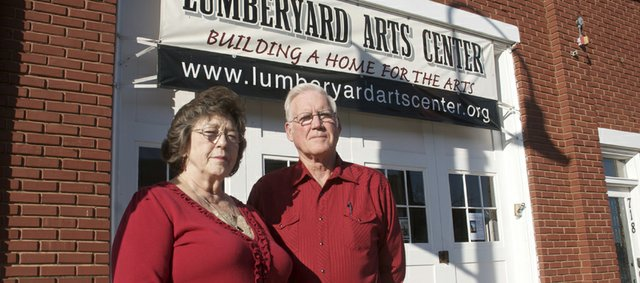 Maple Leaf Festival grant marshals Jim and Diane Niehoff will ride by their passion for much of the last decade as the parade passes by the Lumberyard Arts Center.