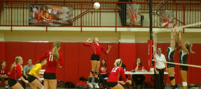 Caly Ingle-Maxwell and the Tonganoxie High volleyball team fell just short of a state tournament bid on Saturday.