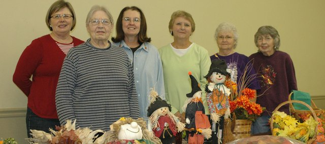 The United Methodist Women's group who helped with the Holiday Garage Sale Saturday included (from left) Judy Anderson, Dorothy Bretthorst, Mary Clark, DiAnne Berning, Judy French and Julie Seveland.