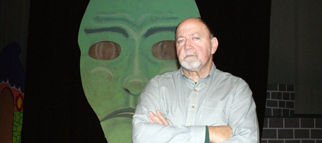 "C.R. Goodin started performing at Bonner Springs High School more than 40 years ago. Next week, he will play the wizard and Professor Marvel in Basehor-Linwood High School's production of ""The Wizard of Oz."""