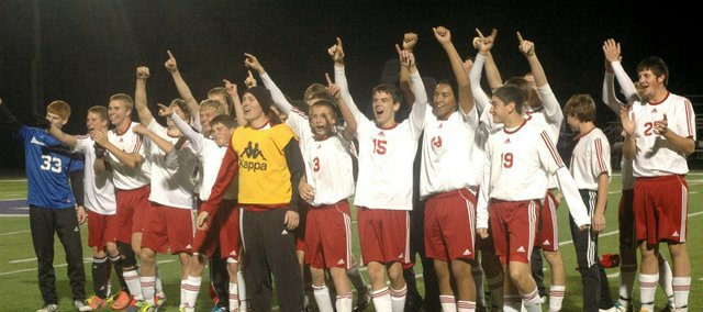 The Tonganoxie High soccer team advanced to the state championship match with a 3-1 win against McPherson on Friday.